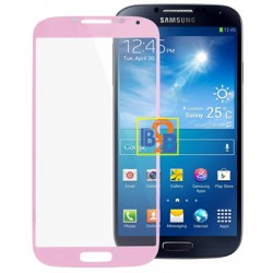 High Qualiay Front Screen Outer Glass Lens for Samsung Galaxy S IV / i9500 (Pink)