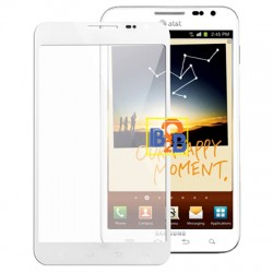 High Quality Front Screen Outer Glass Lens for Samsung Galaxy Note / i717 (White)