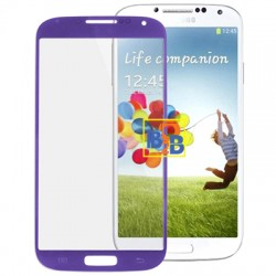 High Qualiay Front Screen Outer Glass Lens for Samsung Galaxy S IV / i9500(Purple)