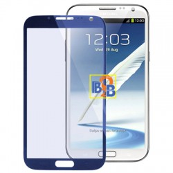 High Quality Front Screen Outer Glass Lens for Samsung Galaxy Note II / N7100 (Navy Blue)