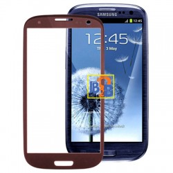 High Quality Front Screen Outer Glass Lens for Samsung Galaxy SIII / i9300(Coffee)