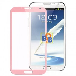 High Quality Front Screen Outer Glass Lens for Samsung Galaxy Note II / N7100 (Pink)
