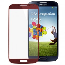 High Qualiay Front Screen Outer Glass Lens for Samsung Galaxy S IV / i9500 (Red)