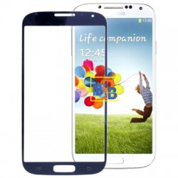 High Quality Front Screen Outer Glass Lens for Samsung Galaxy S IV / i9500 (Navy Blue)
