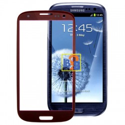 High Quality Front Screen Outer Glass Lens for Samsung Galaxy SIII / i9300 (Red)