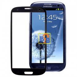 High Quality Front Screen Outer Glass Lens for Samsung Galaxy SIII / i9300 (Black)