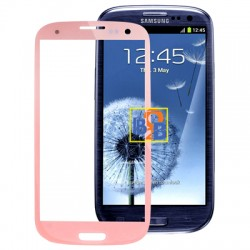 High Quality Front Screen Outer Glass Lens for Samsung Galaxy SIII / i9300 (Pink)