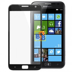 High Quality Front Screen Outer Glass Lens for Samsung ATIV S / i8750 (Black)