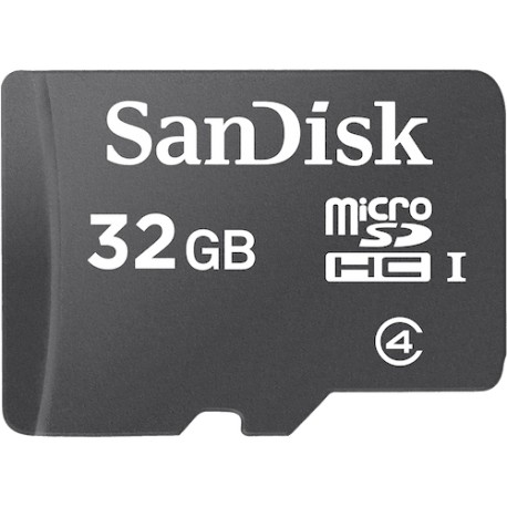 SanDisk microSDHC Memory Card 32 GB (SDSDQM-032G-B35A) with Adaptor