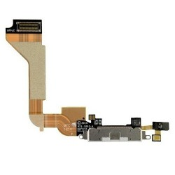 Charging Port Dock Connector Flex Cable Replacement for iPhone 4