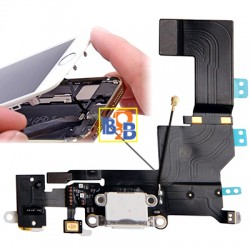 Charging Port Dock Connector Flex Cable Replacement for iPhone 5S