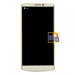 LCD Screen & Touch Screen Digitizer Assembly with Frame for LG V10 (White)