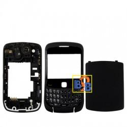 Full Housing Cover for BlackBerry 9300(Black)