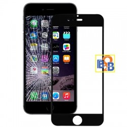 Full Screen Tempered Glass Film (0.3mm) for iPhone 6S - Black