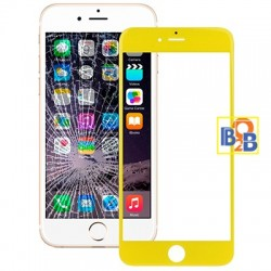 Front Screen Outer Glass Lens for iPhone 6 Plus(Yellow)