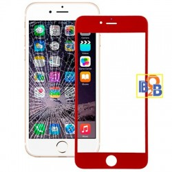 Front Screen Outer Glass Lens for iPhone 6 Plus(Red)
