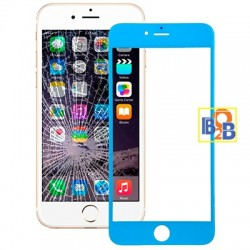 Front Screen Outer Glass Lens for iPhone 6 Plus(Blue)