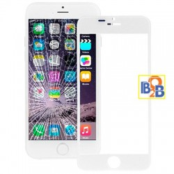 Front Screen Outer Glass Lens for iPhone 6 Plus(White)