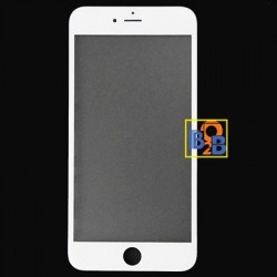Front Screen Outer Glass Lens with Front LCD Screen Bezel Frame for iPhone 6 Plus(White)