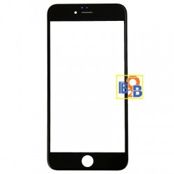 Front Screen Outer Glass Lens with Front LCD Screen Bezel Frame for iPhone 6 Plus(Black)