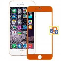 Front Screen Outer Glass Lens for iPhone 6 Plus(Orange)