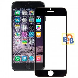 Front Screen Outer Glass Lens for iPhone 6 Plus(Black)