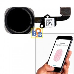 Home Button Flex Cable with Fingerprint Identification Function for iPhone 6 & 6 Plus(Black)