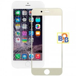 Plating Explosion-proof Tempered Glass Film for iPhone 6 & 6S (Light Gold)