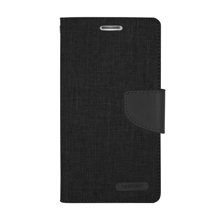 Goospery Canvas Diary Wallet Flip Cover Case by Mercury for Motorola G4/G4Plus (Moto G4/G4+)